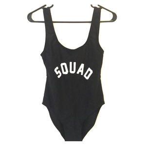 """Squad"" One-piece Monokini"